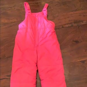 Pink carters snow suit